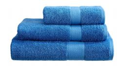 Cobalt Blue 100% Cotton Turkish Ringspun Towel 500 Gsm